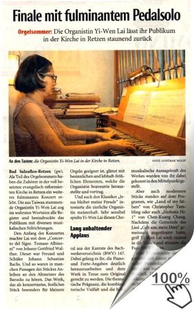 Orgelsommer Kirche Retzen