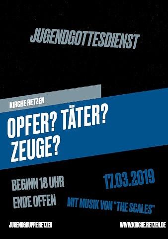 Jugendgottesdienst in der Kirche Retzen - 17.03.2019