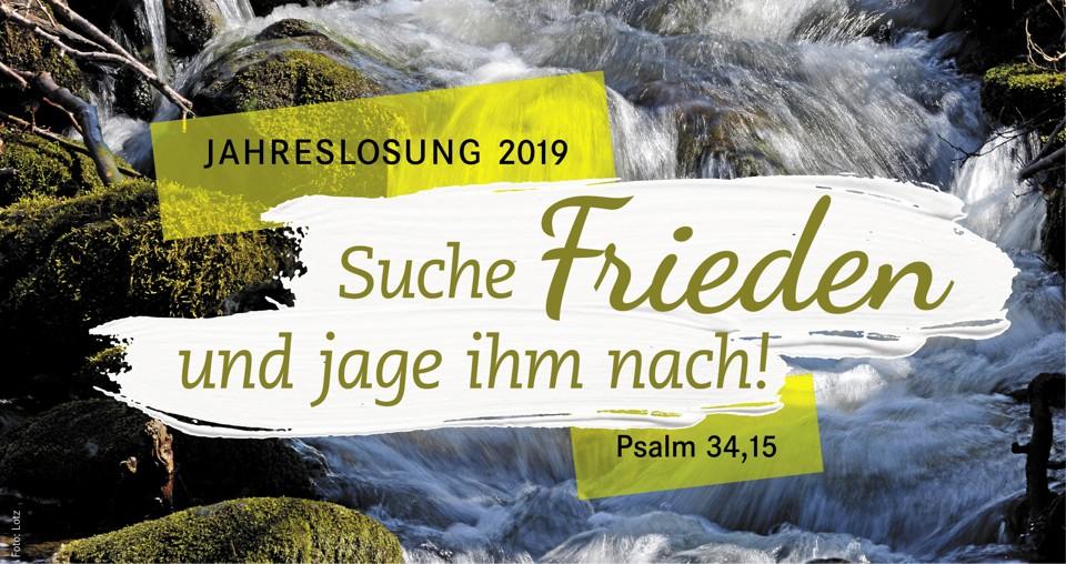 Jahreslosung 2019 - Psalm 34,15